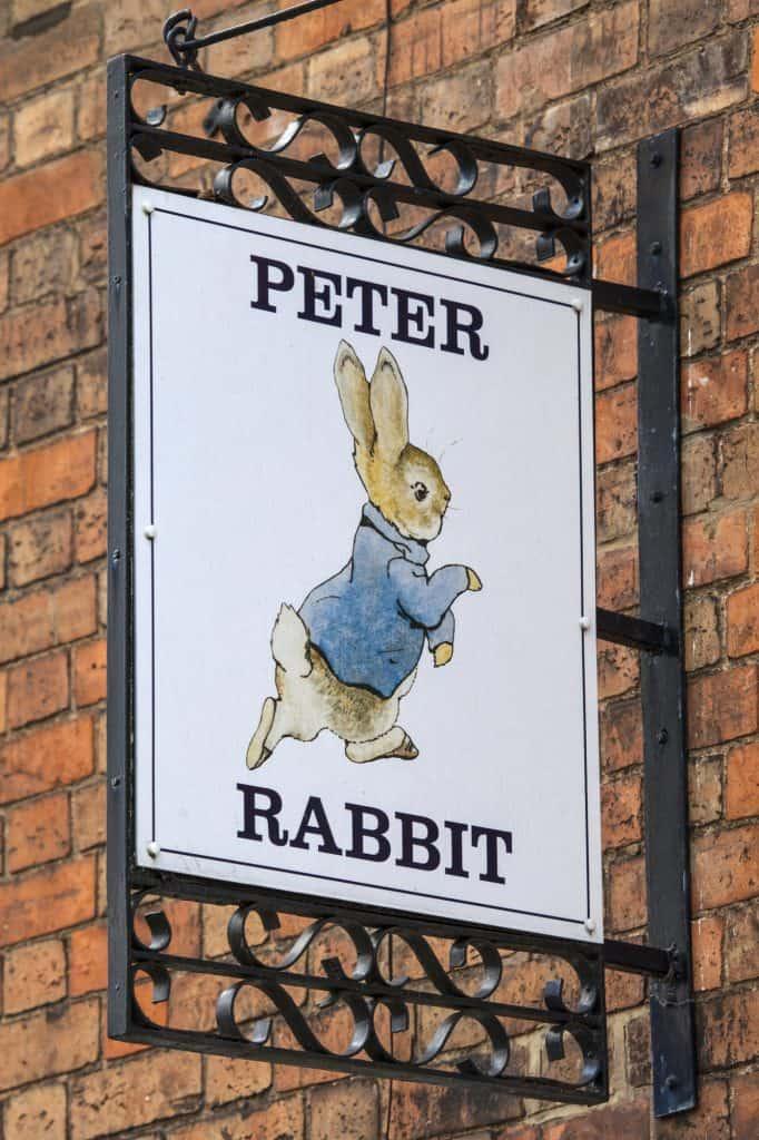Peter Rabbit Pub Sign